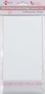Набор белых перламутровых заготовок для открыток, 10см*20см, 250г/м2, 5шт.
