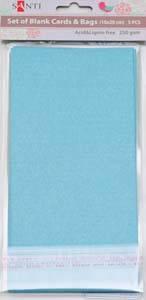 Набор голубых перламутровых заготовок для открыток, 10см*20см, 250г/м2, 5шт.              , фото 2