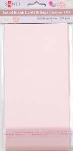Набор розовых перламутровых заготовок для открыток, 10см*20см, 250г/м2, 5шт.