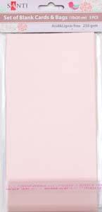 Набор розовых перламутровых заготовок для открыток, 10см*20см, 250г/м2, 5шт.              , фото 2