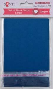 Набор темно-синих заготовок для открыток, 10см*15см, 230г/м2, 5шт.                        , фото 2
