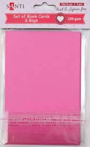 Набор розовых заготовок для открыток, 10см*15см, 230г/м2, 5шт.                            , фото 2