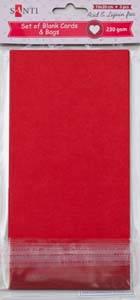 Набор красных заготовок для открыток, 10см*20см, 230г/м2, 5шт.                            , фото 2