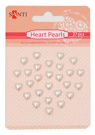 Набор жемчужин SANTI самоклеющихся сердечки перламутровые, 27 шт                          , фото 2