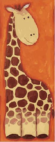 "Холст с контуром ""Жираф"" (15см*30см)                                                      , фото 2"