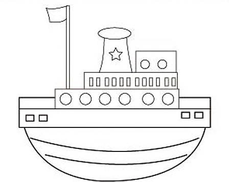 """Холст с контуром """"Лодка"""" (20см*25см)                                                      , фото 2"""