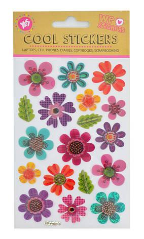 "Набор декоративных 3D стикеров ""Flowers"", 100*150 мм                                      , фото 2"