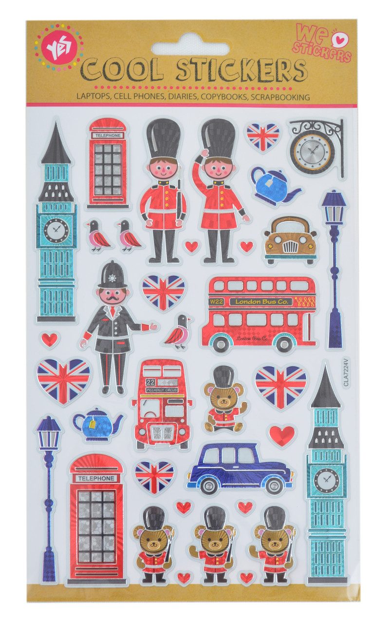"""Набор декоративных стикеров с тиснением """"London"""", 140*210мм"""