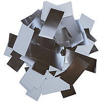 Конфетти-Метафан Серебряно-Белый Премиум 2.5х6 (фольгированный) 1кг