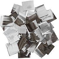 Конфетти-Метафан Серебряный Премиум 2.5х2.5 (фольгированный) 1кг, фото 1