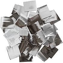 Конфетти-Метафан Серебряный Премиум 2.5х2.5 (фольгированный) 1кг