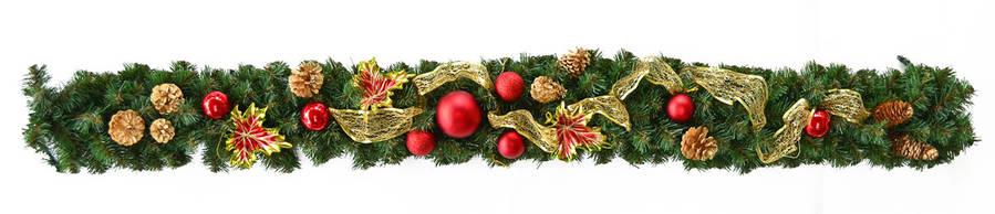 """Елочная ветка Yes! Fun 1.50 м с украшением """"Рождественские традиции""""                      , фото 2"""