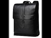 Черный кожаный мужской рюкзак Tiding Bag B3-1683A