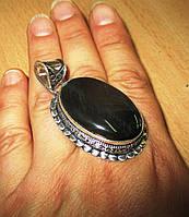 """Серебряной кулон с соколиным глазом """"Овал"""" от LadyStyle.Biz, фото 1"""