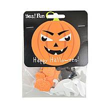 Набор декоративных наклеек Yes! Fun c глиттером для Хэллоуина № 5, 12 шт.