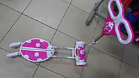 Самокат трайк Божья коровка розовый четырехколесный колесо PU светящиеся высота 86м Самокат трайк