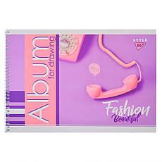 "Альбом для рисования А4 20л/100 ""Fashion beauty""на спирали мат.лам+неон+софт-тачYES       , фото 2"