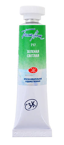Краска акварельная ТУБА, зеленая светлая, 10 мл ЗХК                                       , фото 2