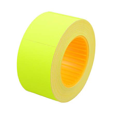 Ценник Datum флюо TCBIL3050 10,00м, прям.200шт/рол (желт.)                                , фото 2