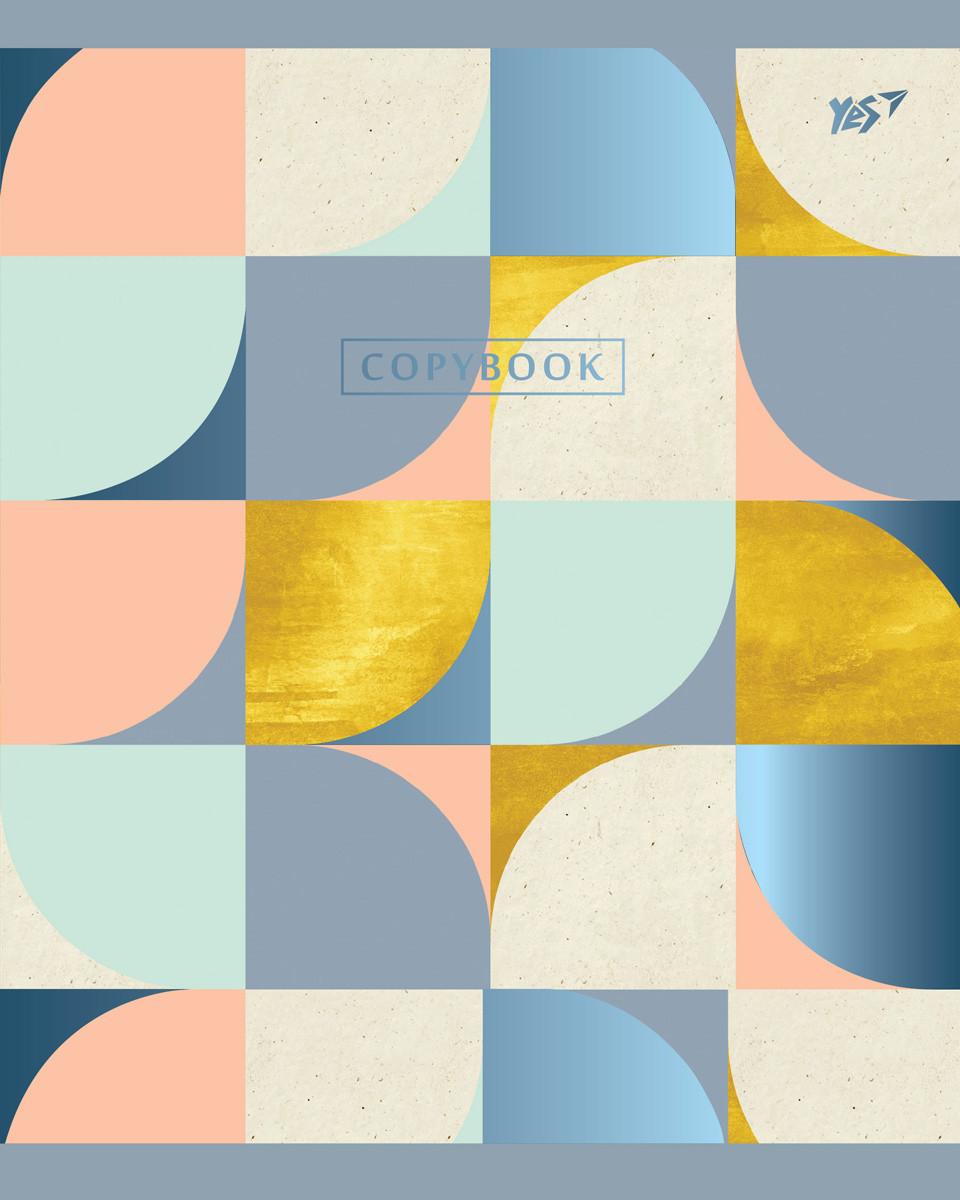 А5/96 кл. YES мат. ламинация+фольга синяя+УФ-выб. Abstract, тетрадь