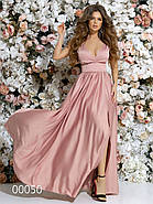 Платье в греческом стиле из шелка в пол, 00050 (Розовый), Размер 46 (L), фото 2