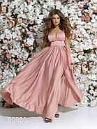 Платье в греческом стиле из шелка в пол, 00050 (Розовый), Размер 46 (L), фото 3