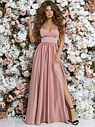 Платье в греческом стиле из шелка в пол, 00050 (Розовый), Размер 46 (L), фото 4
