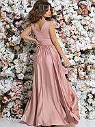 Платье в греческом стиле из шелка в пол, 00050 (Розовый), Размер 46 (L), фото 7