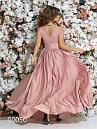 Платье в греческом стиле из шелка в пол, 00050 (Розовый), Размер 46 (L), фото 8