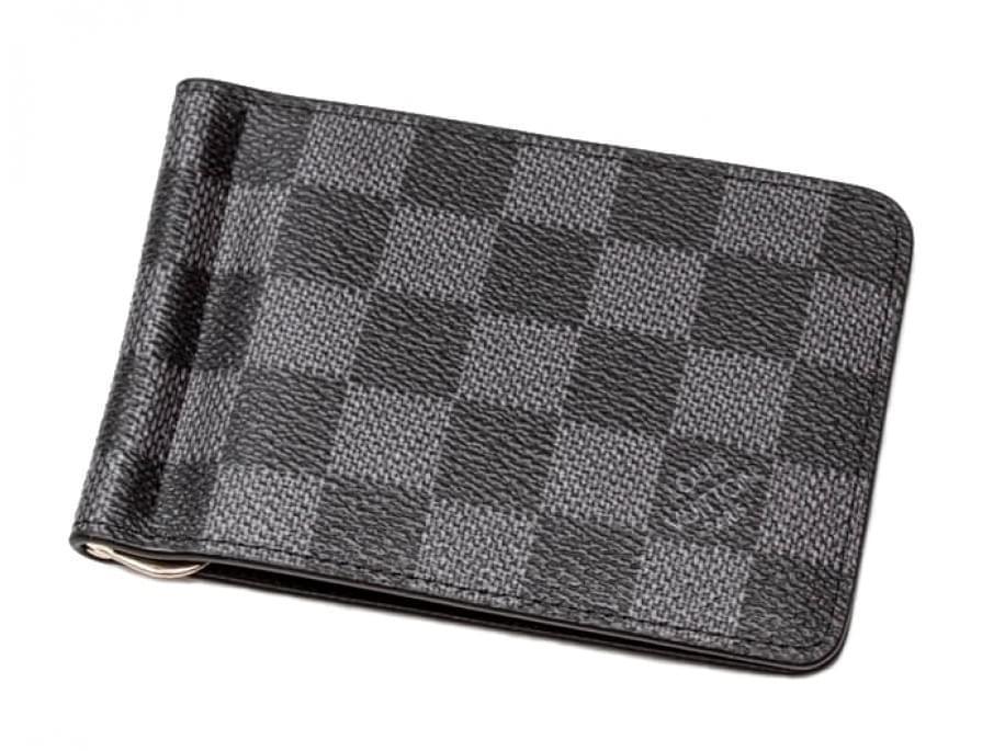 Кожаный зажим Louis Vuitton LV-7006