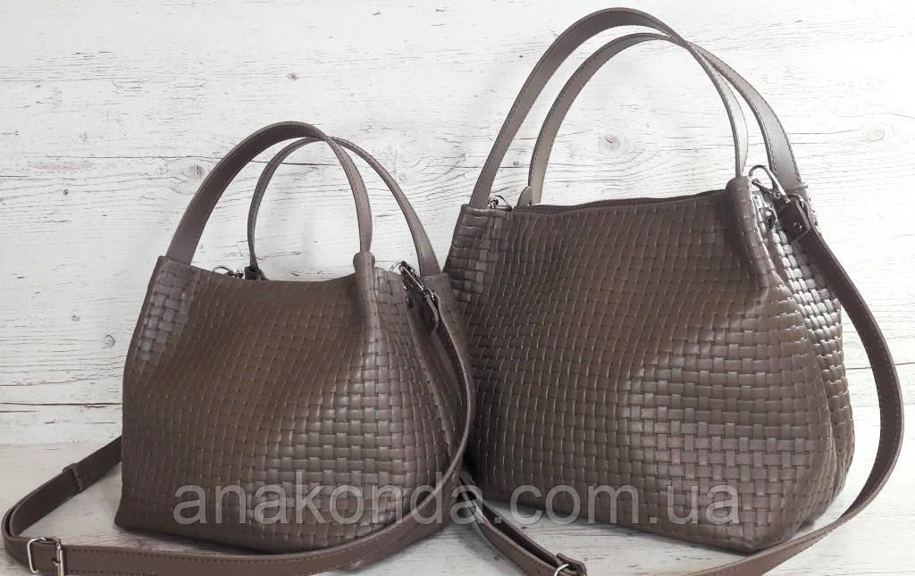 523-XL Натуральная кожа Сумка женская кофейная с тиснением 3D кожаная бежевая женская сумка мягкая коричневая