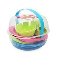 Набор посуды для пикника пластик на 4 персоны 36пр/наб