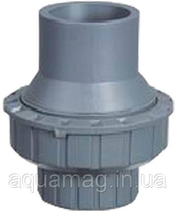 Обратный клапан ПВХ, 40мм, серый, фото 2