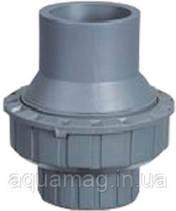 Обратный клапан ПВХ, 40мм, серый