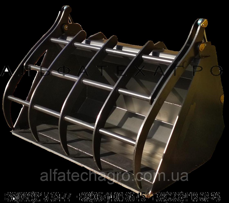 Ковш с захватом на телескопический погрузчик