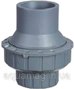 Обратный клапан ПВХ, 90мм, серый