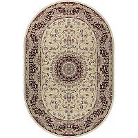 Ковер RoyalEsfahan-1.5 2194B cream red 150*230 овальный