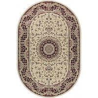 Ковер RoyalEsfahan-1.5 2194B cream red 200*300 овальный