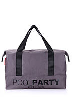 Сумка женская коттоновая PoolParty (коттон  pool-12-grey)