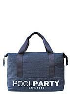 Сумка женская коттоновая PoolParty (коттон pool12-jeans)