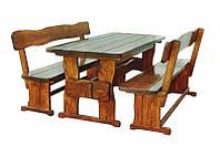 Производство мебели из натурального дерева для кафе, комплект деревянный 1500*800, фото 1