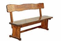 Лавочка, лавка деревянная, скамья 2500*370 для дачи, кафе, фото 1