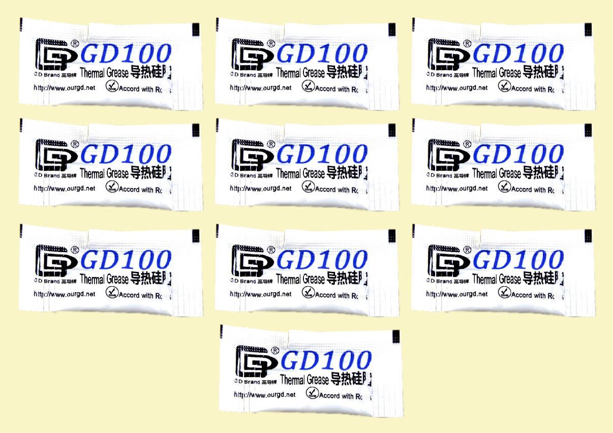 Термопаста GD100 0.5гр. стик 10шт (MB05) серая 1.094 Вт/(м*К) теплопроводящая (TPa-GD100 0,5g)