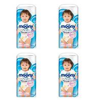 Moony. Трусики для девочек (12-22 кг) 4х38 шт. (208098)