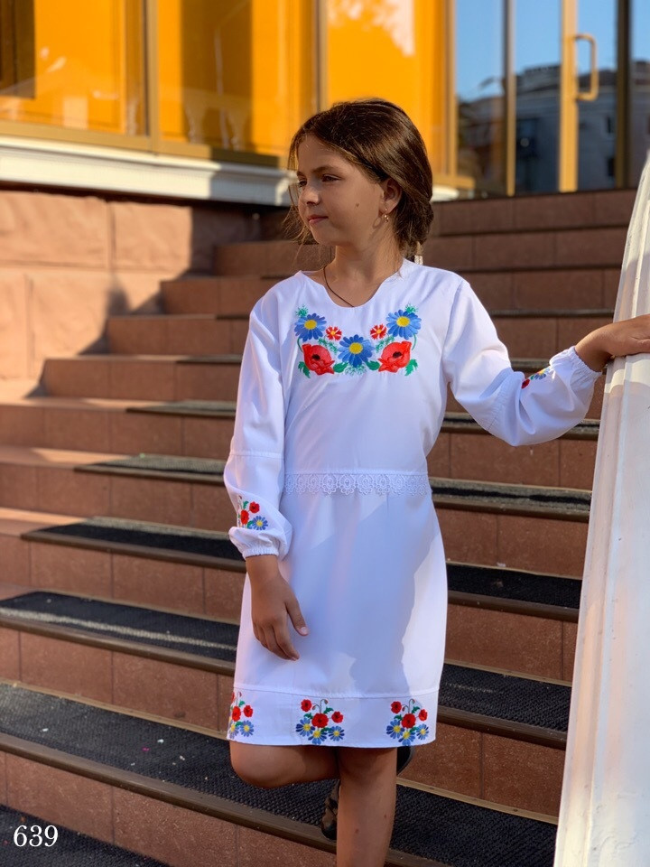 Платье вышиванка школьноеткань рубашка 122,128,134,140