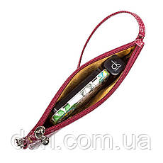 Клатч женский SEA SNAKE LEATHER 18283 из натуральной кожи морской змеи Бордовый, Бордовый, фото 3
