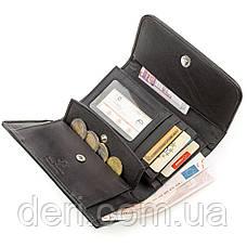 Вертикальный кошелек из натуральной кожи питона серый, фото 3