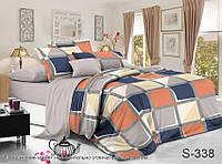 Комплект постельного белья из сатина с компаньоном S338, разные размеры полуторный