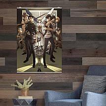 """Постер """"Атака На Титанов, постер 3 сезона"""". Attack on Titans. Размер 60x44см (A2). Глянцевая бумага, фото 2"""