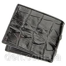 Бумажник мужской CROCODILE LEATHER 18583 из натуральной кожи крокодила Черный, Черный, фото 2